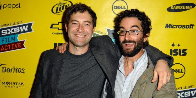 AUSTIN, TX - MARCH 11:  Writer/directors Mark Duplass and Jay Duplass attends 'The Do-Deca Pentathalon' Photo Op during the 2