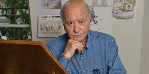 PARIS, FRANCE - SEPTEMBER 4; Georges Wolinski, French cartoonist during portrait session held on September 4, 2014 in Paris,