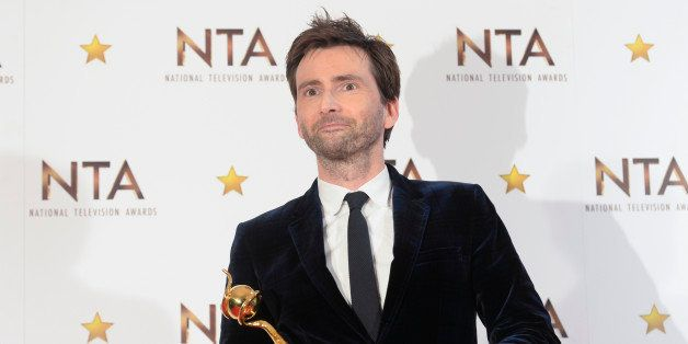 LONDON, ENGLAND - JANUARY 21:  David Tennant, winner of the Special Recognition award, poses in the winners room at the Natio