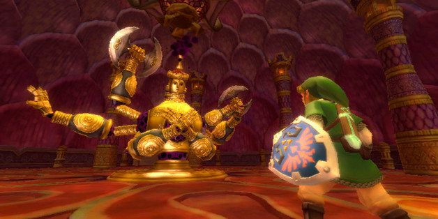 """In this video game image released by Nintendo Co., a scene is shown from, """"Legend of Zelda: Skyward Sword."""" (AP Photo/Nintend"""