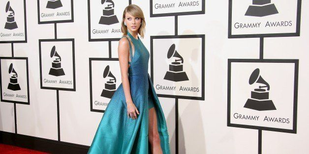 LOS ANGELES, CA - FEBRUARY 08: Taylor Swift attends The 57th Annual GRAMMY Awards at the STAPLES Center on February 8, 2015 i