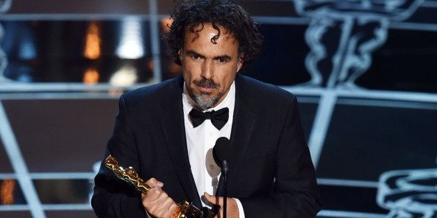 HOLLYWOOD, CA - FEBRUARY 22:  Director Alejandro Gonzalez Inarritu accepts the Best Director Award for 'Birdman' onstage duri