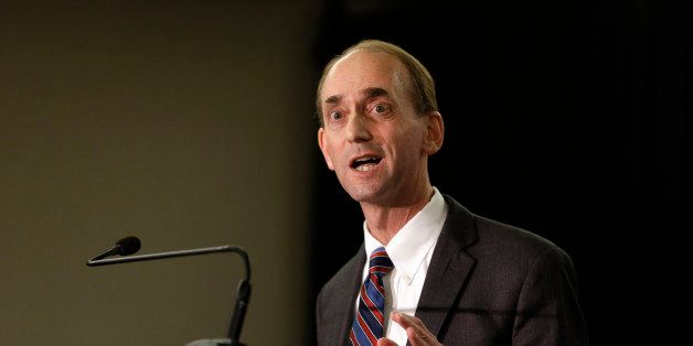 Missouri Auditor Tom Schweich announces his candidacy for governor Wednesday, Jan. 28, 2015, in St. Louis. The announcement s