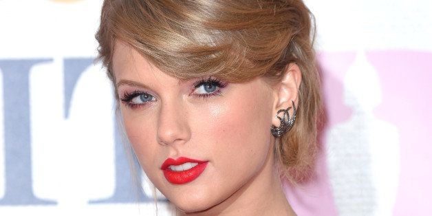 LONDON, ENGLAND - FEBRUARY 25:  Taylor Swift attends the BRIT Awards 2015 at The O2 Arena on February 25, 2015 in London, Eng