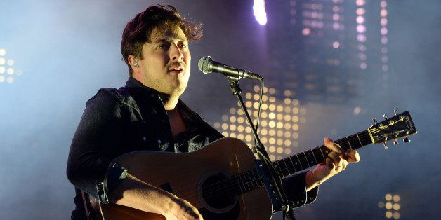 CHICAGO, IL - AUGUST 03:  Marcus Mumford of Mumford & Sons performs during Lollapalooza 2013 at Grant Park on August 3, 2013