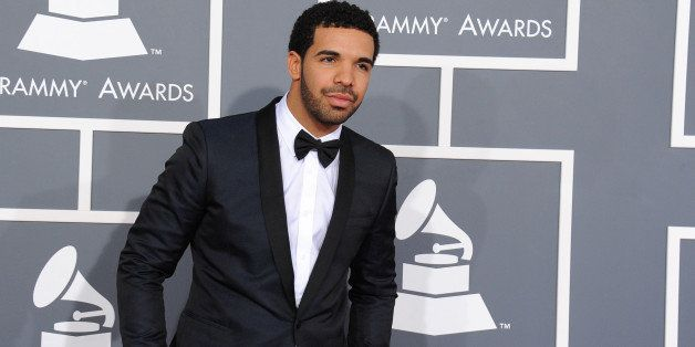 Rapper Drake arrives at the 55th annual Grammy Awards on Sunday, Feb. 10, 2013, in Los Angeles.  (Photo by Jordan Strauss/Inv