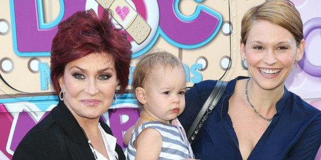 LOS ANGELES, CA - SEPTEMBER 26:  (L-R) Television personality Sharon Osbourne, granddaughter Pearl Osbourne, and daughter-in-