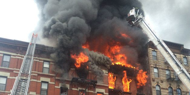 Building at 121 Second Avenue in East Village, near Seventh Street collapsed after it was rocked by a blast and a fierce fire