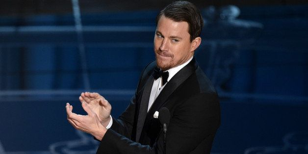 Channing Tatum speaks at the Oscars on Sunday, Feb. 22, 2015, at the Dolby Theatre in Los Angeles. (Photo by John Shearer/Inv