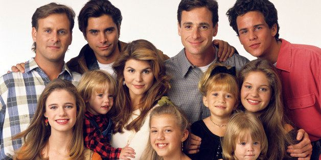 UNITED STATES - SEPTEMBER 14:  FULL HOUSE - Season Seven - Gallery - 9/14/93, Pictured, from left: Dave Coulier (Joey), Andre