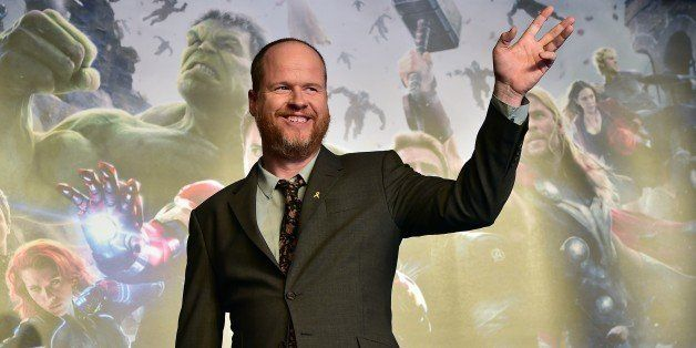 US director Joss Whedon poses for a photo session during a press conference to promote Marvel's 'Avengers: Age Of Ultron' in