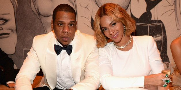 BEVERLY HILLS, CA - FEBRUARY 22:  (EXCLUSIVE ACCESS, SPECIAL RATES APPLY)  Jay Z and Beyonce attend the 2015 Vanity Fair Osca