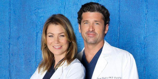 GREY'S ANATOMY - ABC's 'Grey's Anatomy' stars Ellen Pompeo as Dr. Meredith Grey and Patrick Dempsey as Dr. Derek Shepherd. (B
