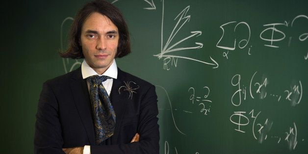 French mathematician Cedric Villani, author of the novel entitled 'Theoreme vivant' poses on September 25, 2012 at the Henri
