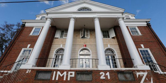 FILE - This Nov. 24, 2014, file photo, shows the Phi Kappa Psi house at the University of Virginia in Charlottesville, Va. Gr