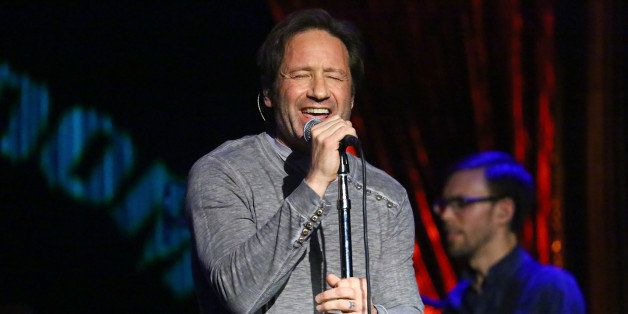 NEW YORK, NY - MAY 12:  Actor and musician David Duchovny performs  at The Cutting Room on May 12, 2015 in New York City.  (P