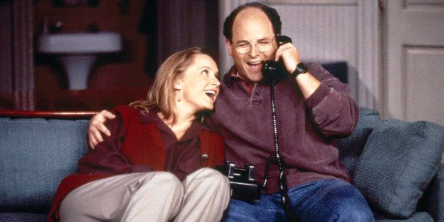 SEINFELD -- 'The Engagement' Episode 1 -- Pictured: (l-r) Heidi Swedberg as Susan Biddle Ross, Jason Alexander as George Cost