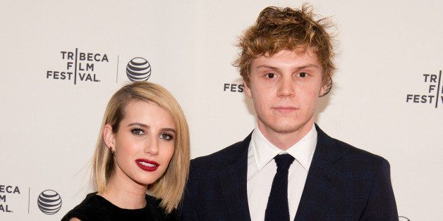 NEW YORK, NY - APRIL 24:  Actors Emma Roberts and Evan Peters attend the premiere of 'Palo Alto' during the 2014 Tribeca Film