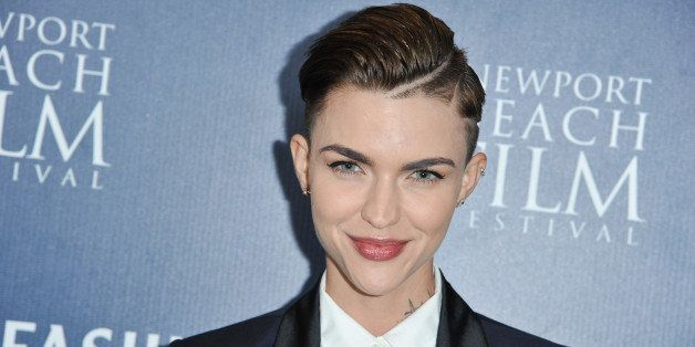 """Ruby Rose arrives at the 2014 Newport Beach Film Festival Screening of """"Around The Block"""" on Saturday, April 26, 2014 in Cost"""