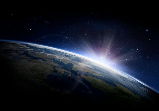 宇宙から見た地球 イメージ写真
