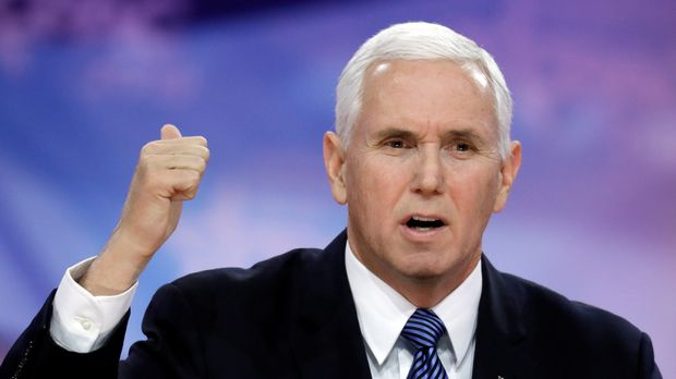U.S. Vice President Mike Pence speaks at the Conservative Political Action Conference (CPAC) annual meeting at National Harbor near Washington, U.S., March 1, 2019. REUTERS/Yuri Gripas