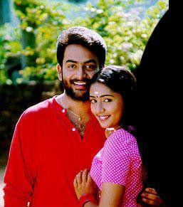 Prithviraj Sukumaran and Navya Nair in 'Nandanam'.