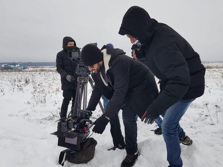 Prithviraj on the set of directorial debut 'Lucifer'.