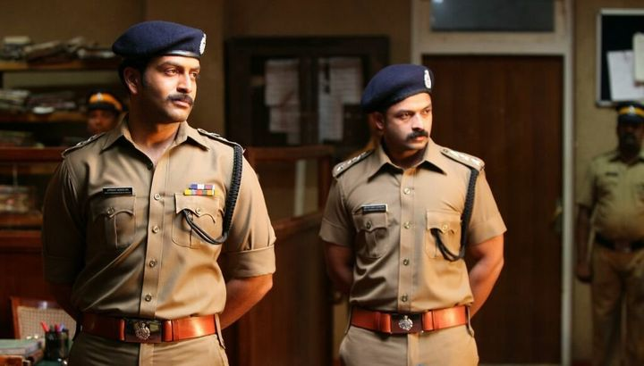 Prithviraj with Jayasurya in 'Mumbai Police'.