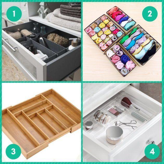 Ces séparateurs vous aideront à ranger vos tiroirs mieux que Marie
