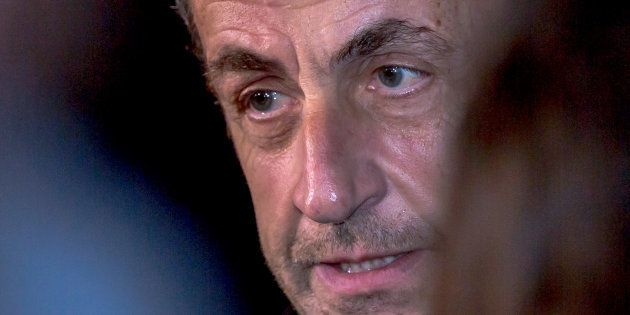 Nicolas Sarkozy place de la République à Paris le 19 février
