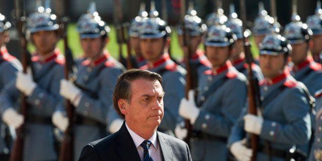 Jair Bolsonaro lors d'une cérémonie à Santiago du