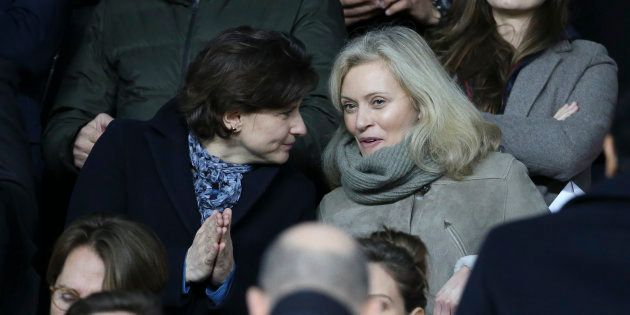 Nathalie Boy de la Tour (à droite), la présidente de la Ligue de football professionnel et Roxana Maracineanu...