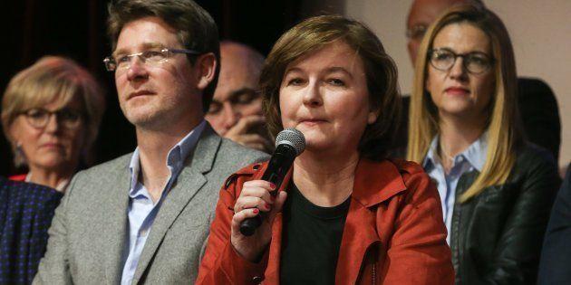 Pascal Canfin et Nathalie Loiseau lors de l'officialisation de la liste LREM pour les Européennes de
