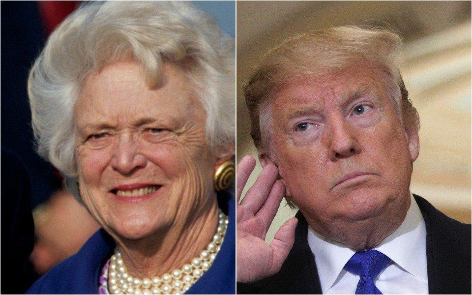 Barbara Bush and Donald Trump