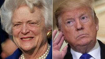 Barbara Bush and Donald Trump