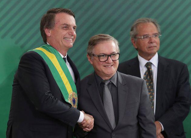O presidente Jair Bolsonaro e o ministro da