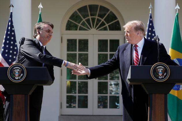 Jair Bolsonaro y Donald Trump se reunieron el martes 19 de marzo en la Casa