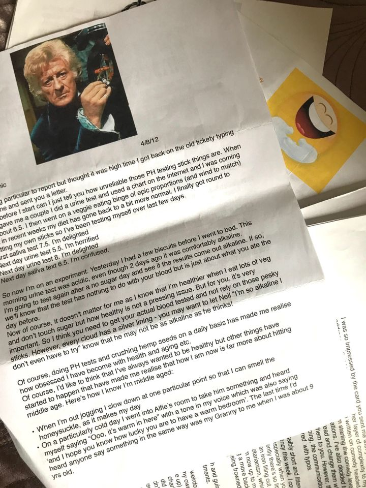 A letter Brian received from Alison.
