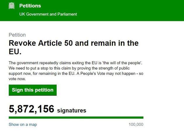 Brexit: la pétition pour rester dans l'UE rejetée par le