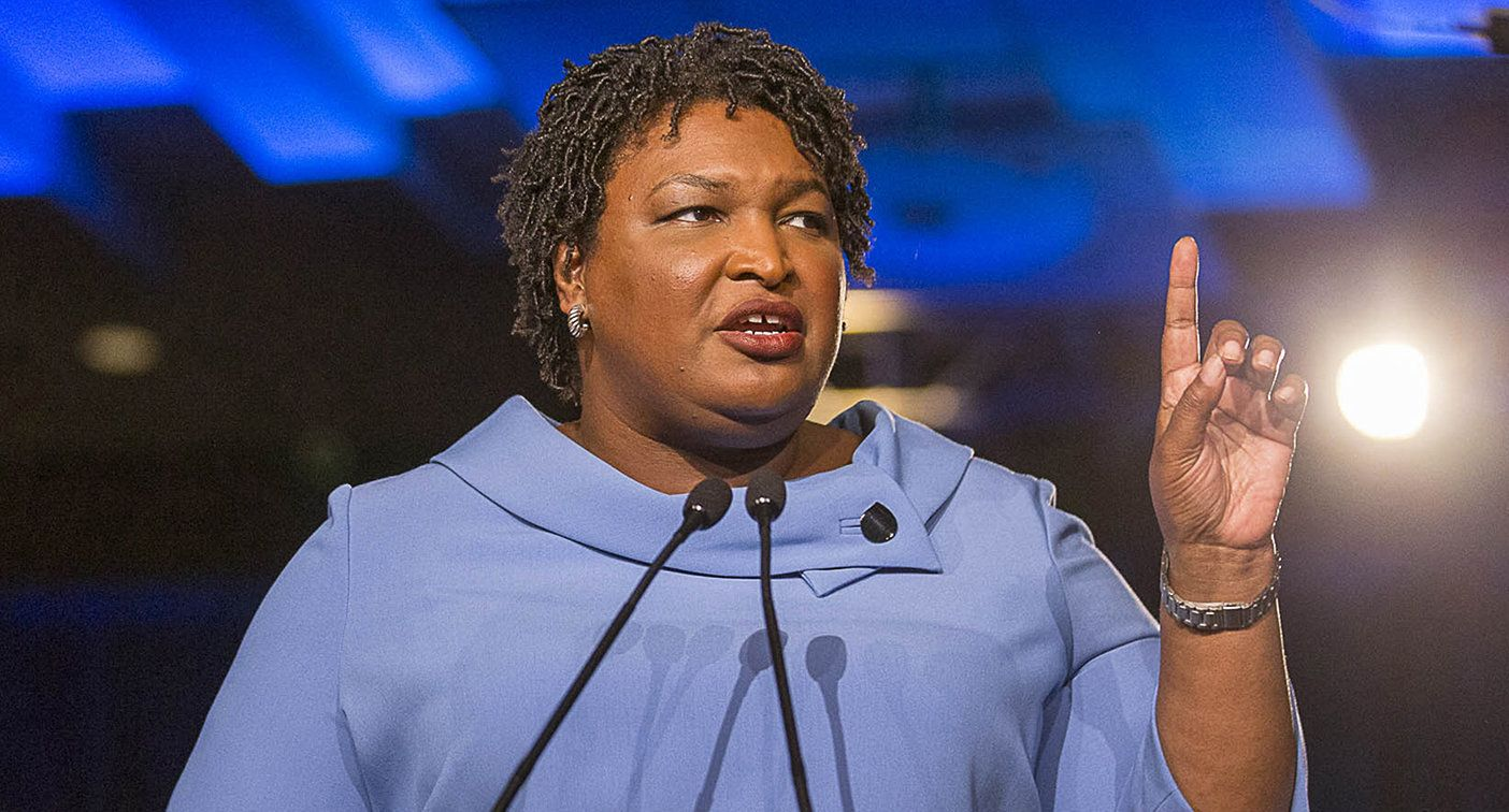 November 7, 2018 - Atlanta, GA, USA - Georgia gubernatorial candidate Stacey Abrams speaks to her supporters during her election night watch party at the Hyatt Regency in Atlanta, Wednesday, Nov. 7, 2018. (Alyssa Pointer/Atlanta Journal-Constitution/TNS via ZUMA Wire)