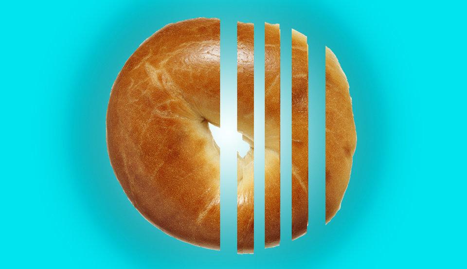 A murdered bagel.
