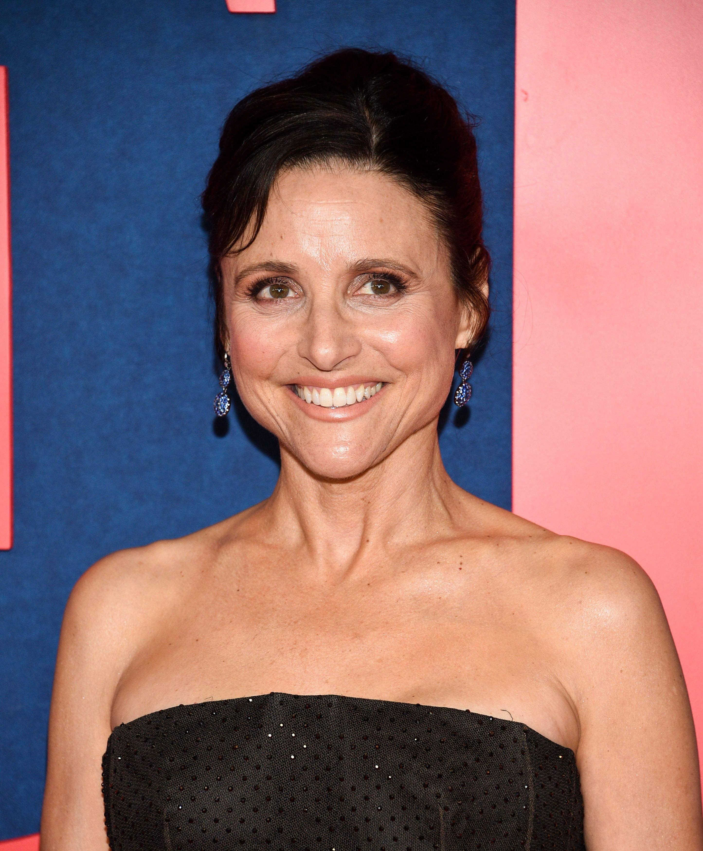 """Julia Louis-Dreyfu, who plays Selina Meyer on HBO's """"Veep,"""" at the premiere of the show's final season."""