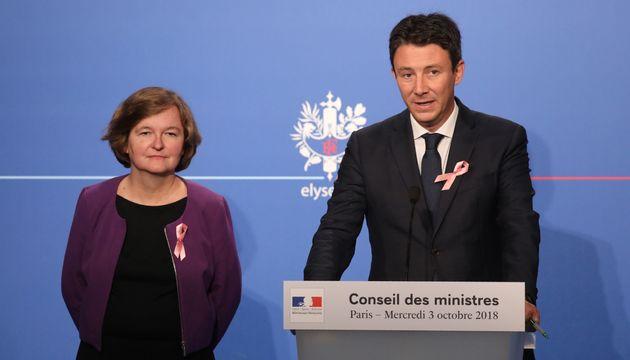 Nathalie Loiseau et Benjamin Griveaux respectivement ministre des Affaires européennes etsecrétaire...