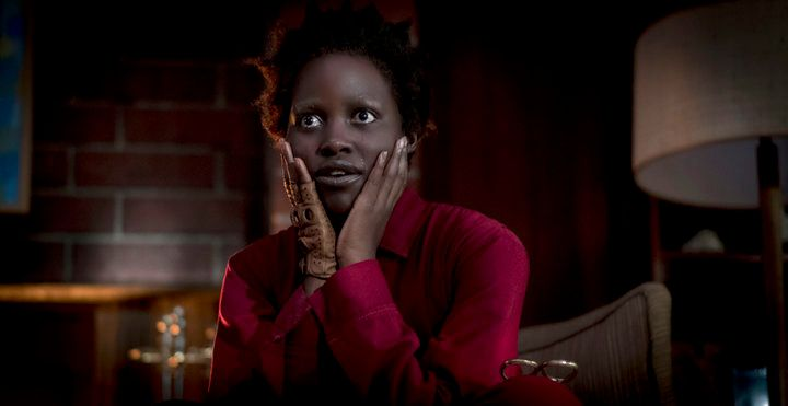 Lupita Nyong'o as Adelaide Wilson doppelgänger Red in Us, written, produced and directed by Jordan Peele.