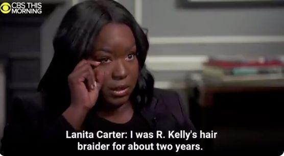 Lanita Carter inerview par CBS sur ses accusations concernant R.