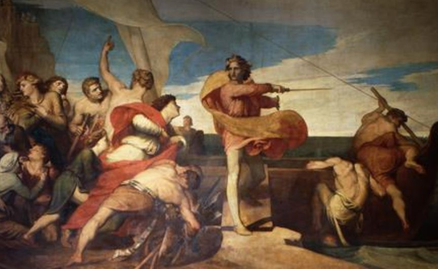 'Alfred Inciting The Saxons To Prevent The Landing Of The