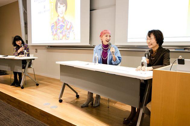 (右から)能澤慧子さん、はましゃかさん、ファシリテーターの高橋牧子さん