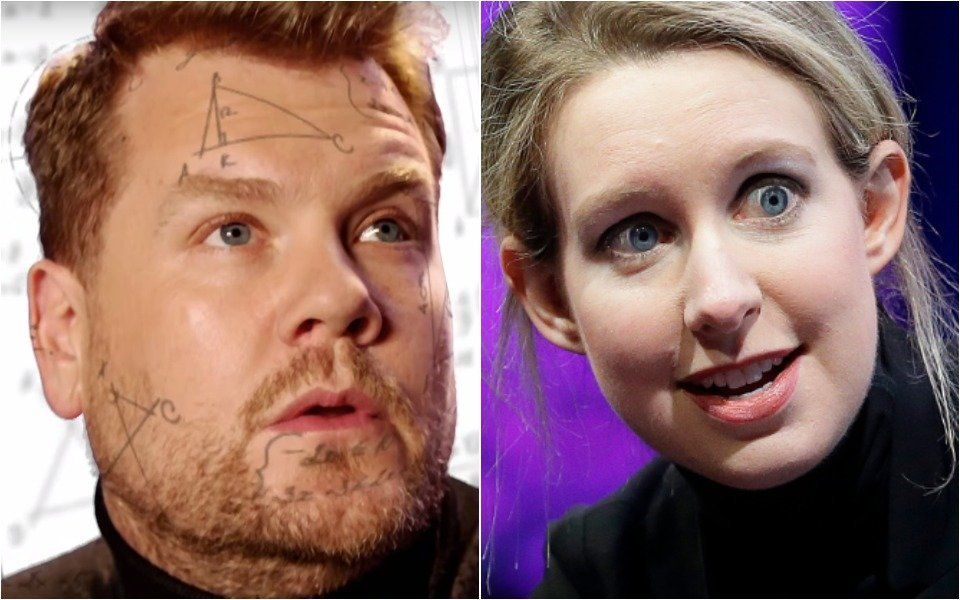 Corden Theranos spoof