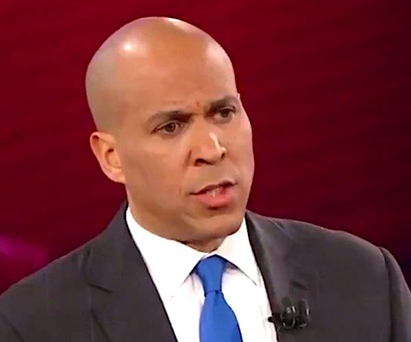 Sen. Cory Booker (D-N.J.) laid out his presidential ambitions during a town hall event on Wednesday, pledging to provide a pathway to citizenship for undocumented immigrants, work to provide Medicare for all and saying he would consider mass commutations for those with federal marijuana convictions.