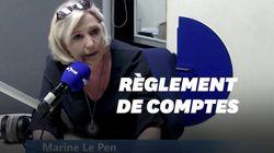 À la Réunion, Marine Le Pen avait préparé des punchlines assassines contre ses anciens